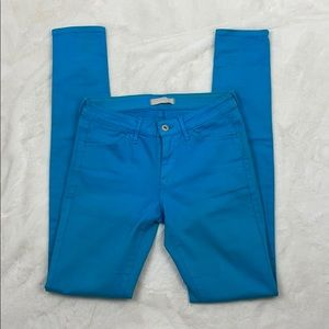 UniQlo Turquoise Skinny Jeans, Size 25 x 23